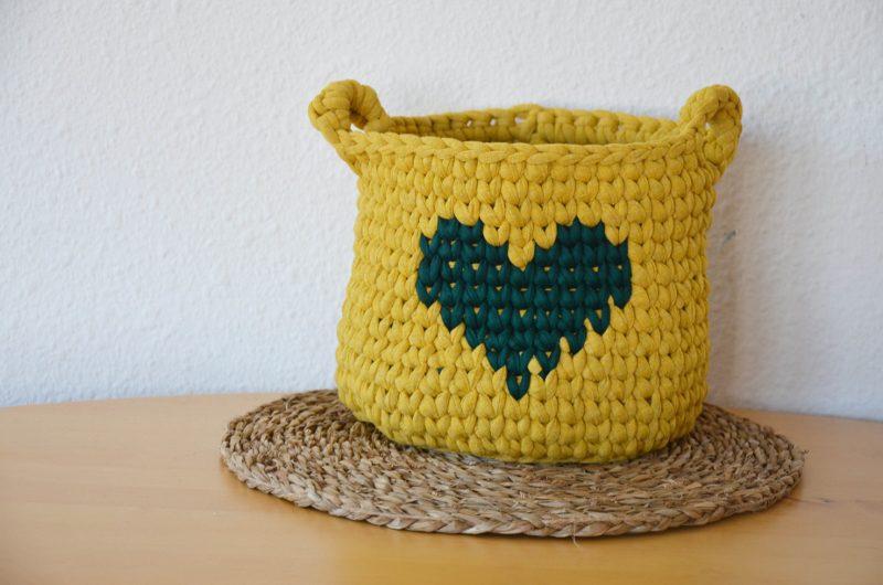 trapillo cesta ganchillo crochet patron gratis