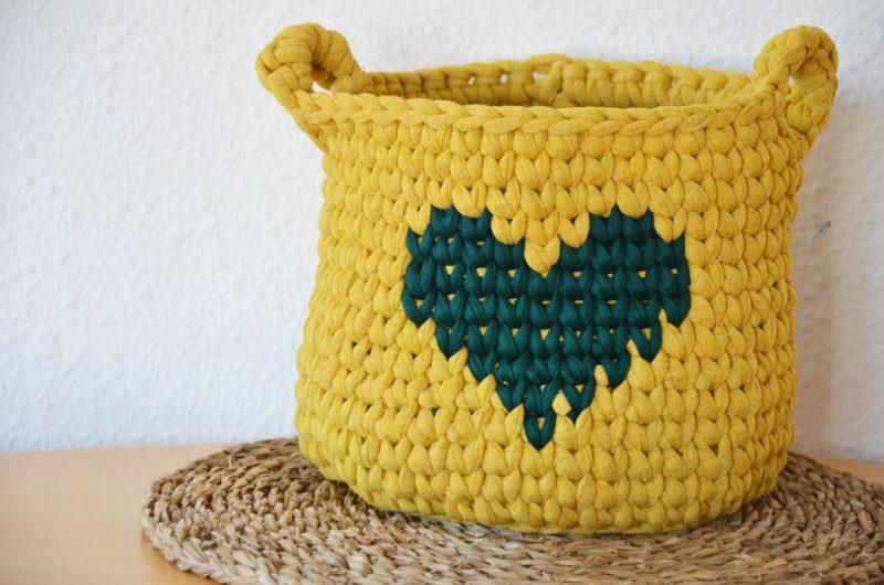 trapillo cesta patron gratis ganchillo crochet