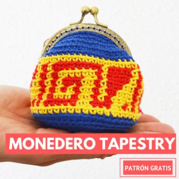 monedero con tapestry crochet