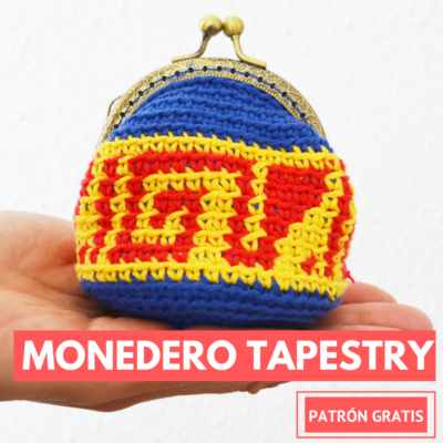 monedero con tapestry crochet