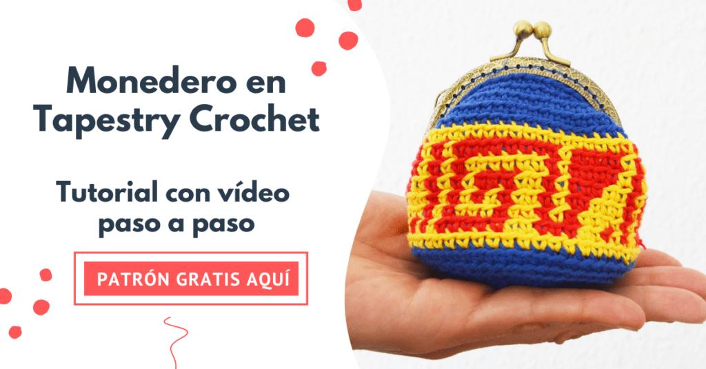 cómo tejer un monedero con boquilla en crochet