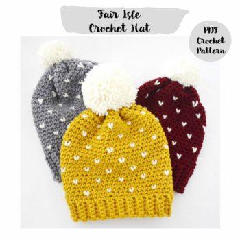 gorro fair isle crochet mamma do it yourself