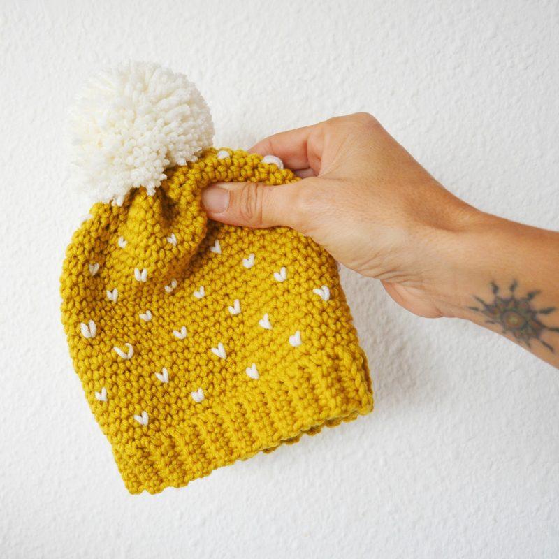 gorro fair isle crochet