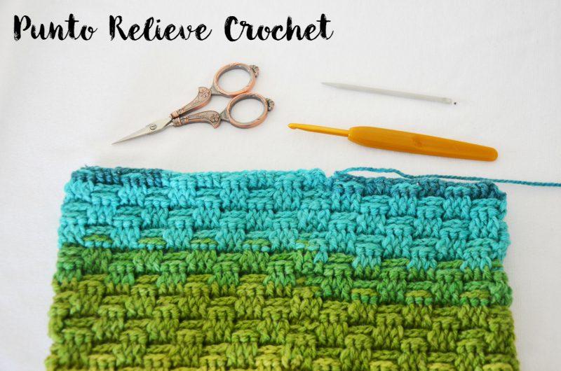 punto relieve enrejado crochet mamma do it yourself