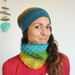 gorro y cuello crochet paint katia por mamma do it yourself