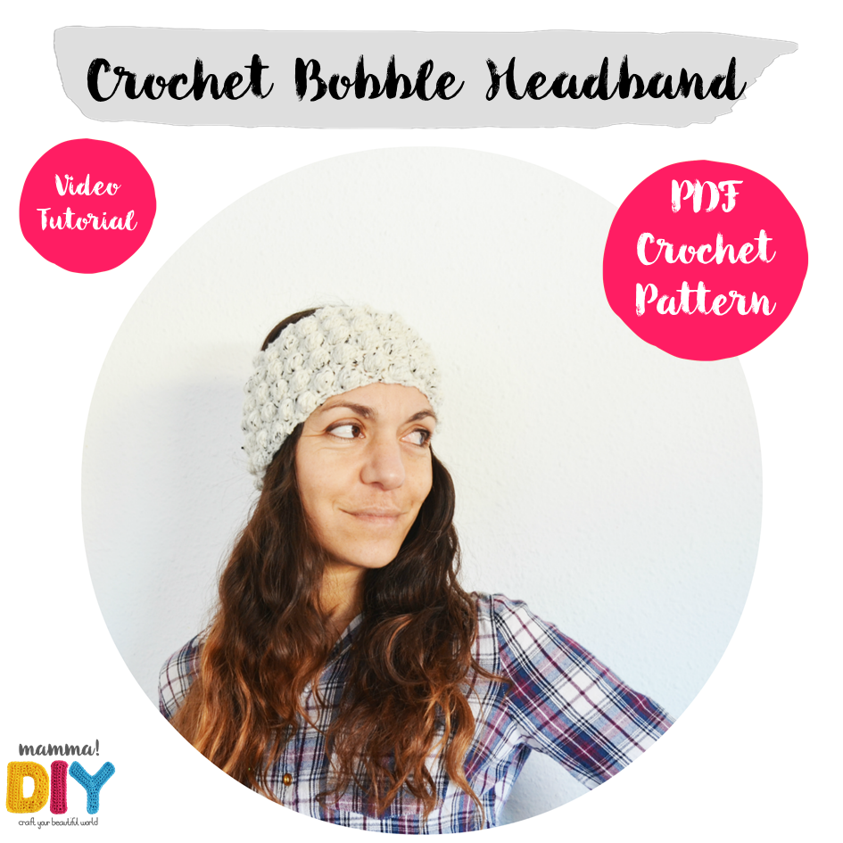 Turbante de Crochet, Patrón y Video Tutorial por Mamma DIY