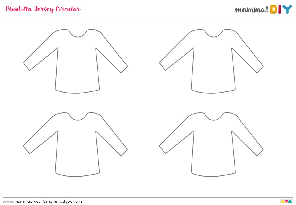 plantilla para diseñar un jersey crochet circular mamma do it yourself
