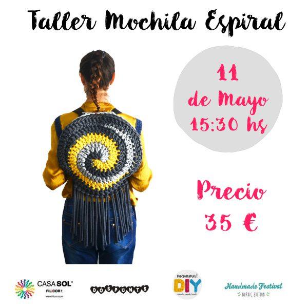 taller mochila espiral crochet mammadiypatterns
