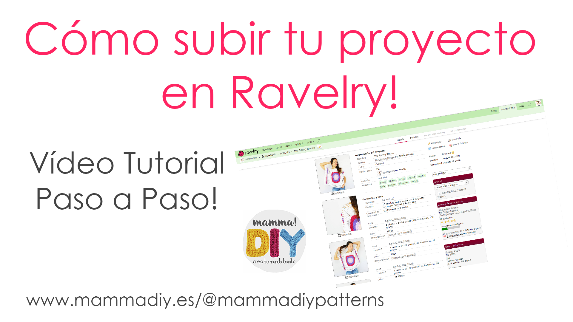 Como subir un proyecto a Ravelry - Mamma! Do It Yourself