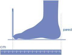 como calcular la medida de tus pies