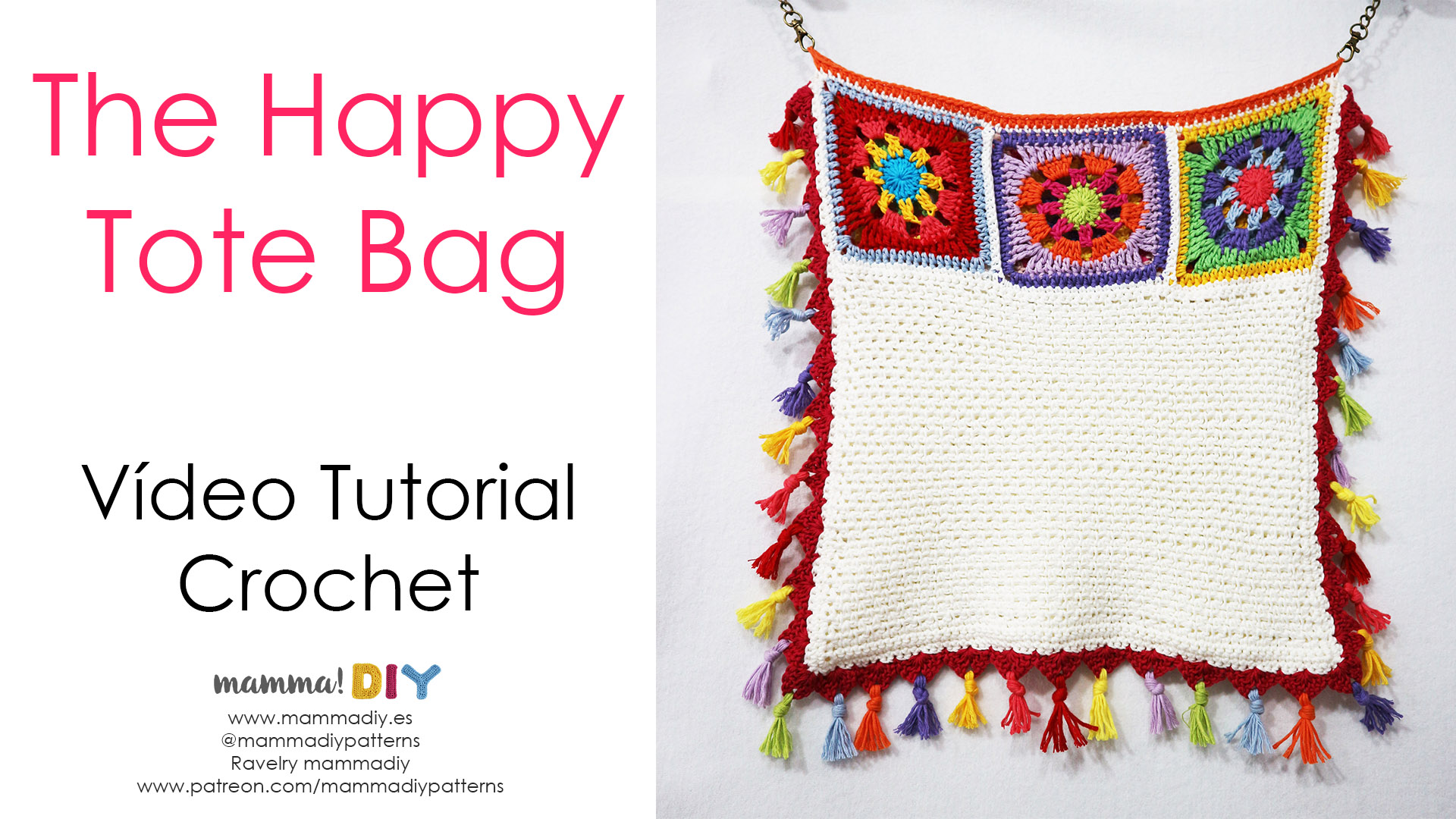 the happy tote bag crochet tutorial
