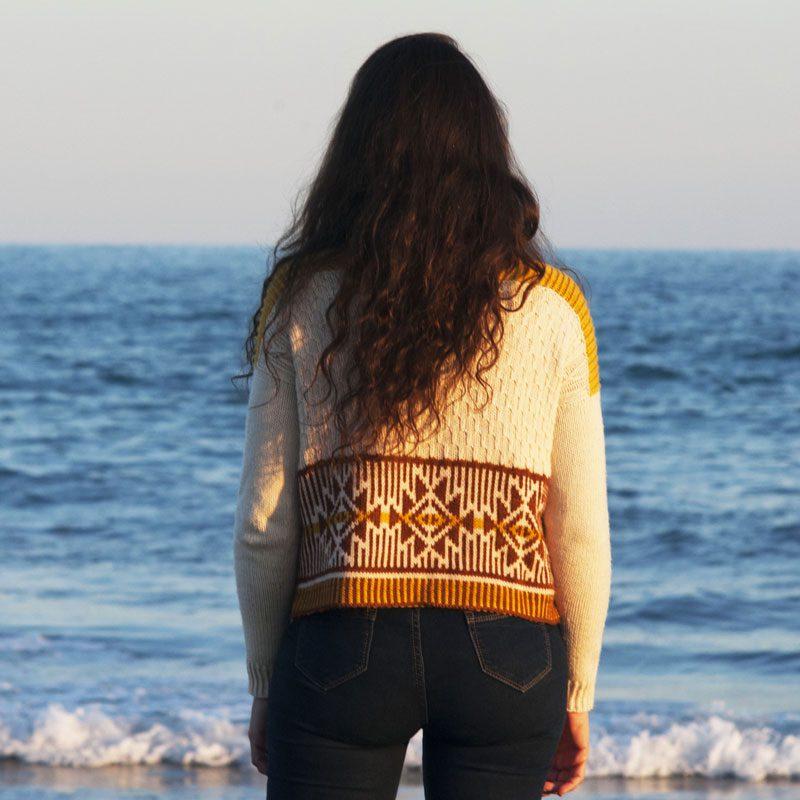 suéter para mujer con agujas circulares