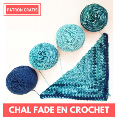 chal triangular fade en crochet