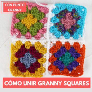 cómo unir granny squares con punto granny