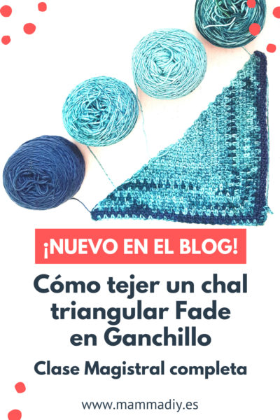 chal triangular fade en crochet