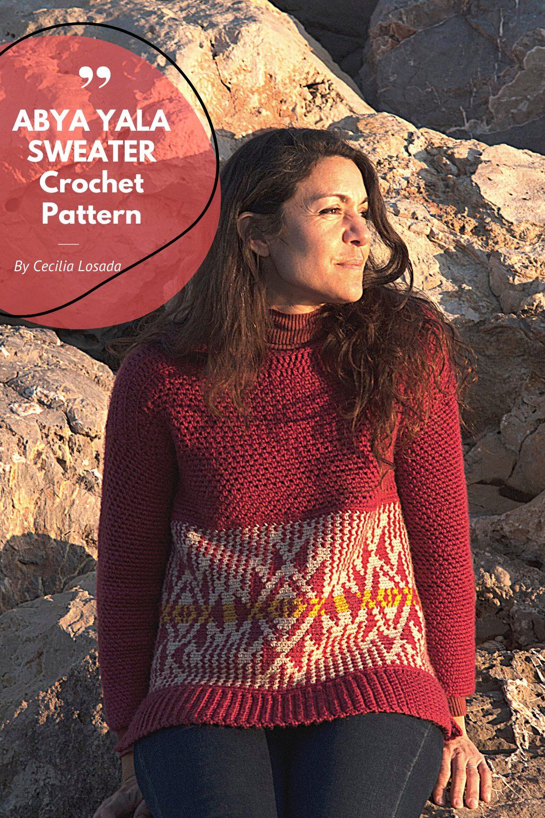 pullover mujer tapestry crochet