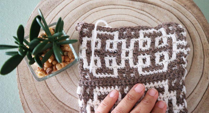como tejer una muestra en circular en crochet