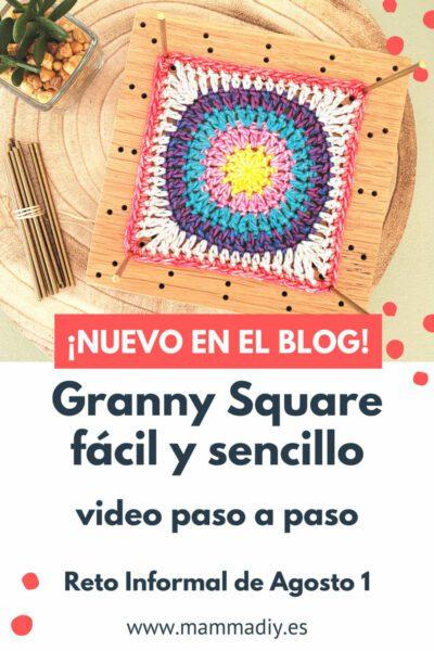granny square fácil para manta a ganchillo