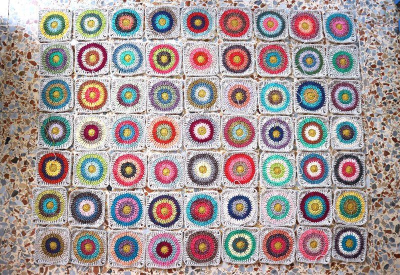 manta crochet granny squares