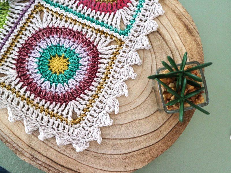 puntilla fácil para manta a crochet