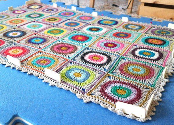 bloquear tejidos a crochet
