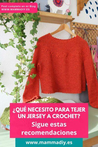 jersey a crochet sin costuras