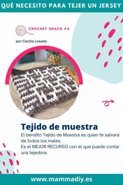 tejido de muestra crochet circular